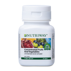 NUTRIWAY® Concentrated Fruits and Vegetables - 60 Tablets